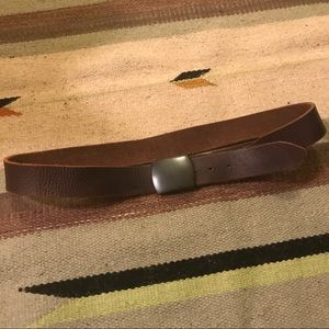 CALVIN KLEIN BROWN MENS LEATHER BELT 42